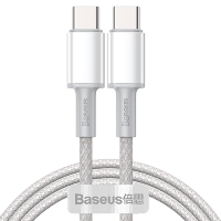 Кабель Baseus High Density Braided Type-C 100W 2м Белый